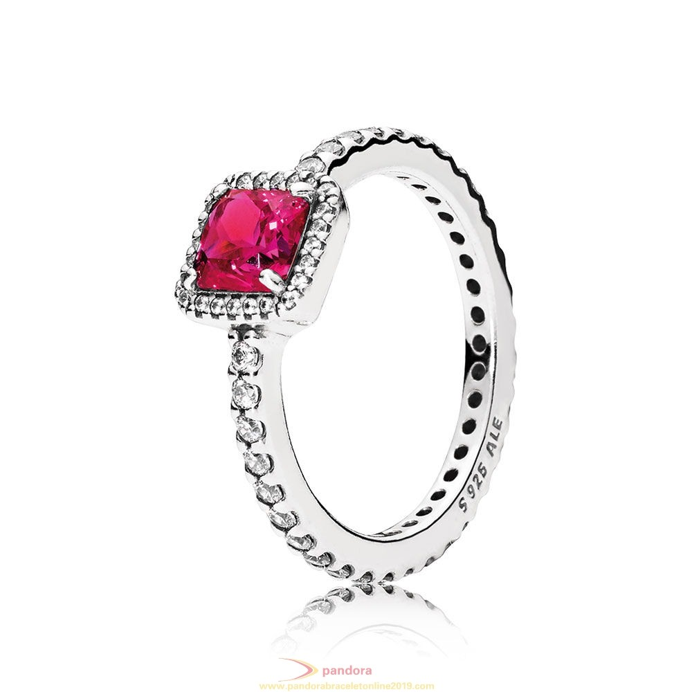 Find Pandora Jewelry Pandora Rings Timeless Elegance Synthetic Ruby Clear Cz