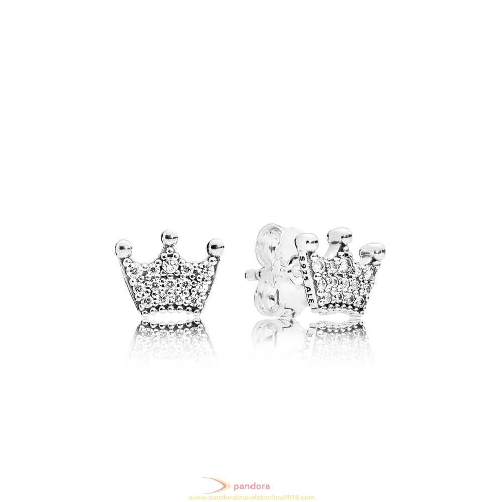 Find Pandora Jewelry Enchanted Crown Earring Studs