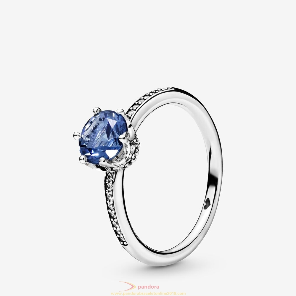 Find Pandora Jewelry Blue Sparkling Crown Ring