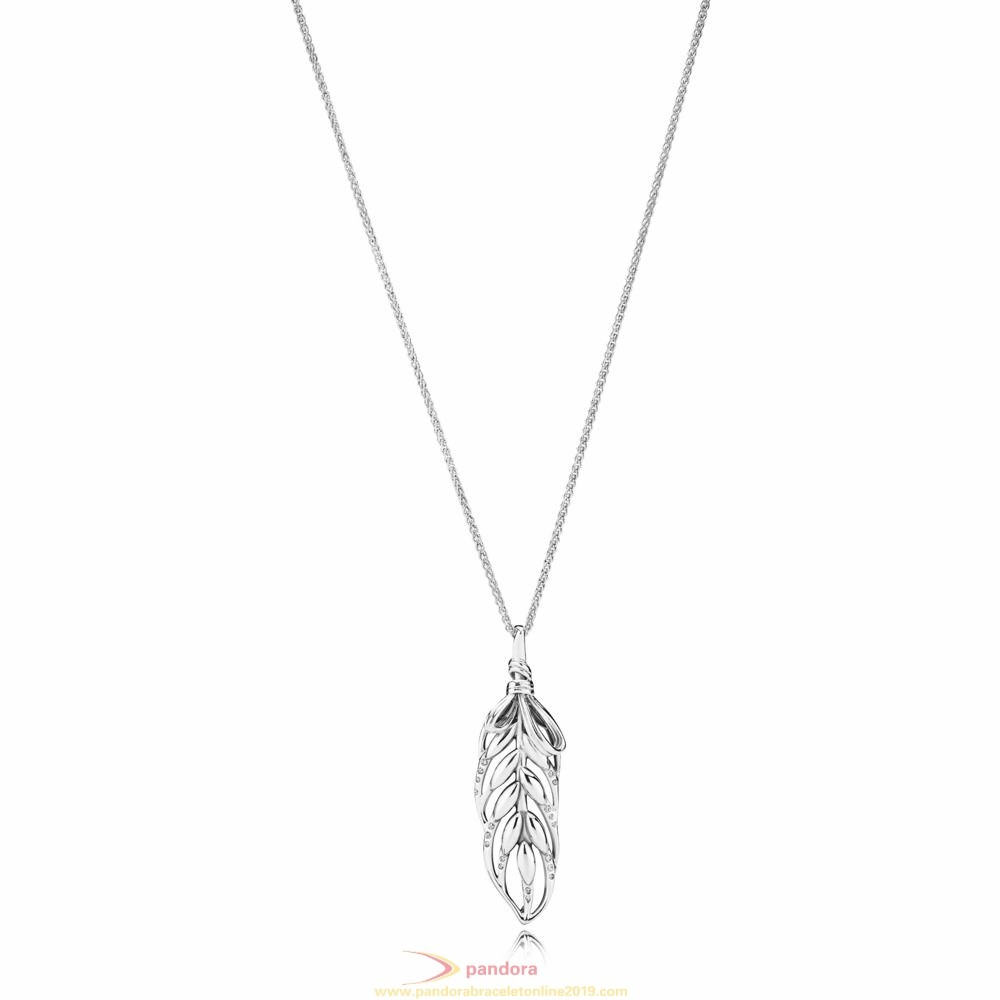 Find Pandora Jewelry Floating Grains Necklace With Pendant
