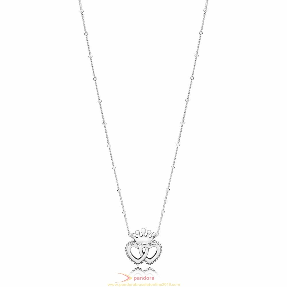 Find Pandora Jewelry Interlocked Crown Hearts Necklace