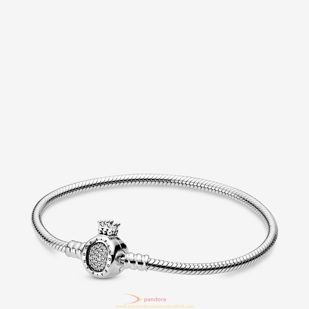 Find Pandora Jewelry Pandora Moments Crown O & Snake Chain Bracelet