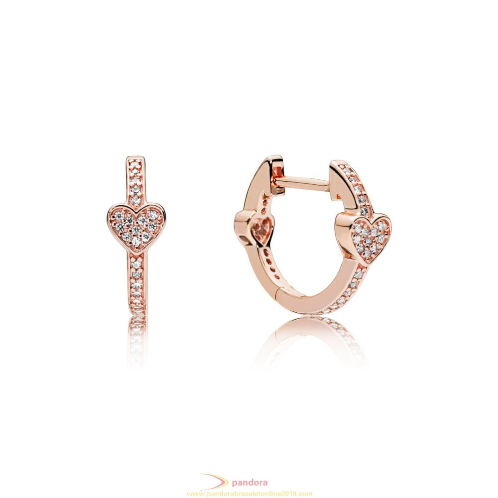 Find Pandora Jewelry Pandora Rose Alluring Hearts Hoop Earrings