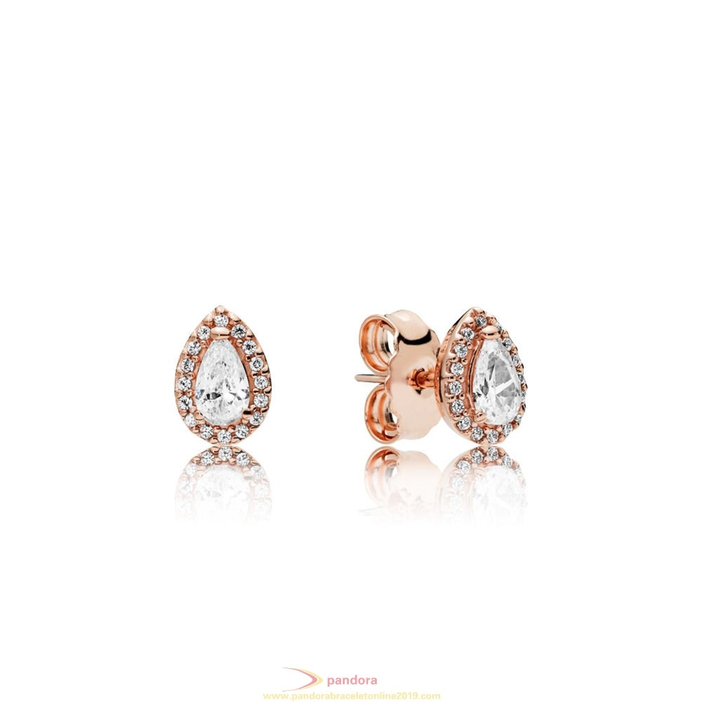 Find Pandora Jewelry Pandora Rose Radiant Teardrop Earring Studs