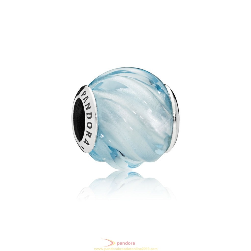 Find Pandora Jewelry Blue Ripples Charm
