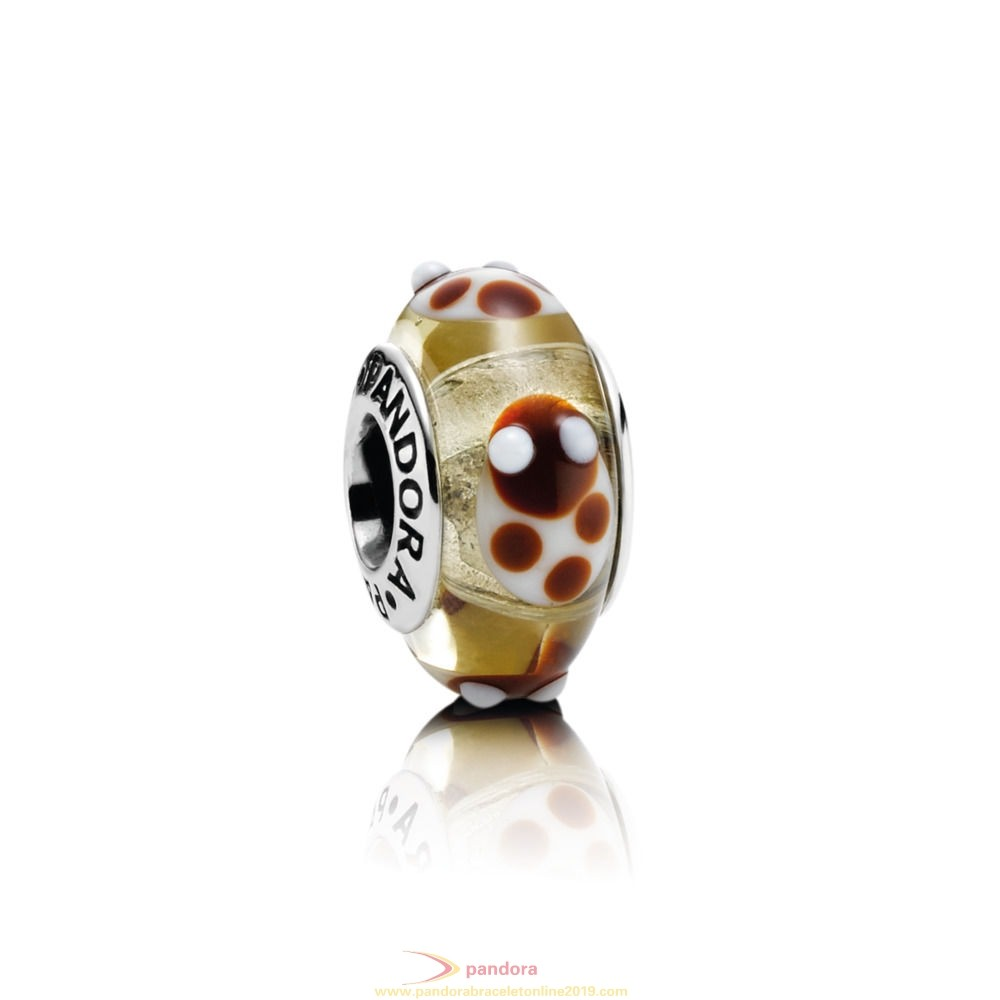 Find Pandora Jewelry Golden Glass Ladybird Charm