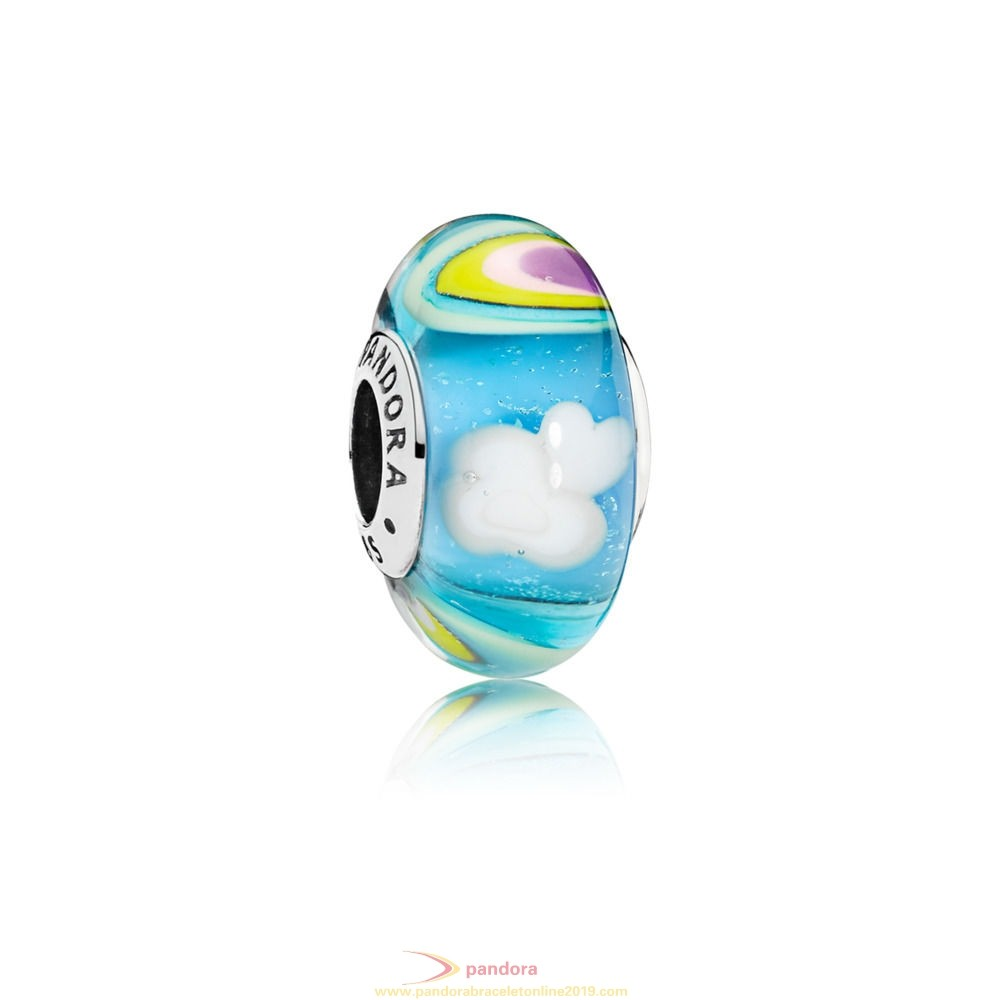 Find Pandora Jewelry Iridescent Rainbow Murano Glass Charm