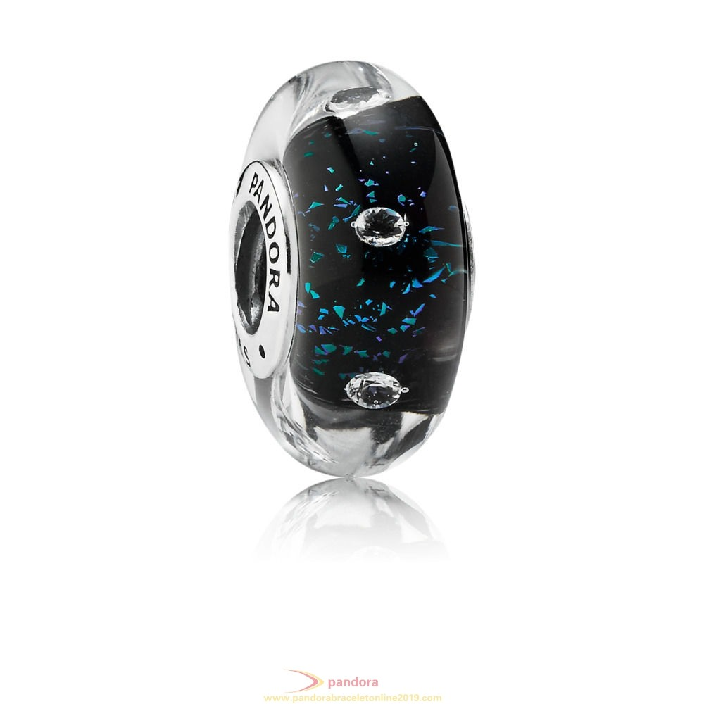 Find Pandora Jewelry Midnight Blue Fizzle Murano Charm