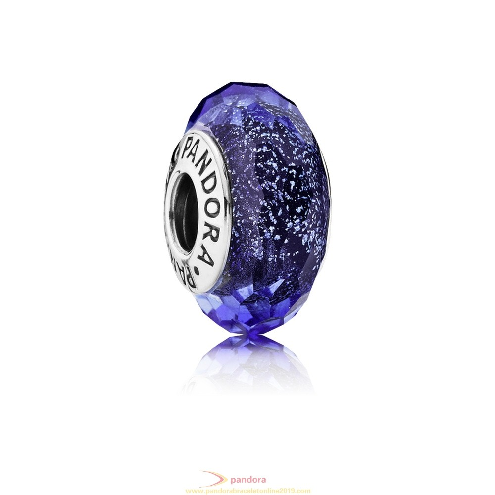 Find Pandora Jewelry Pandora Touch Of Color Charms Blue Fascinating Iridescence Charm Murano Glass