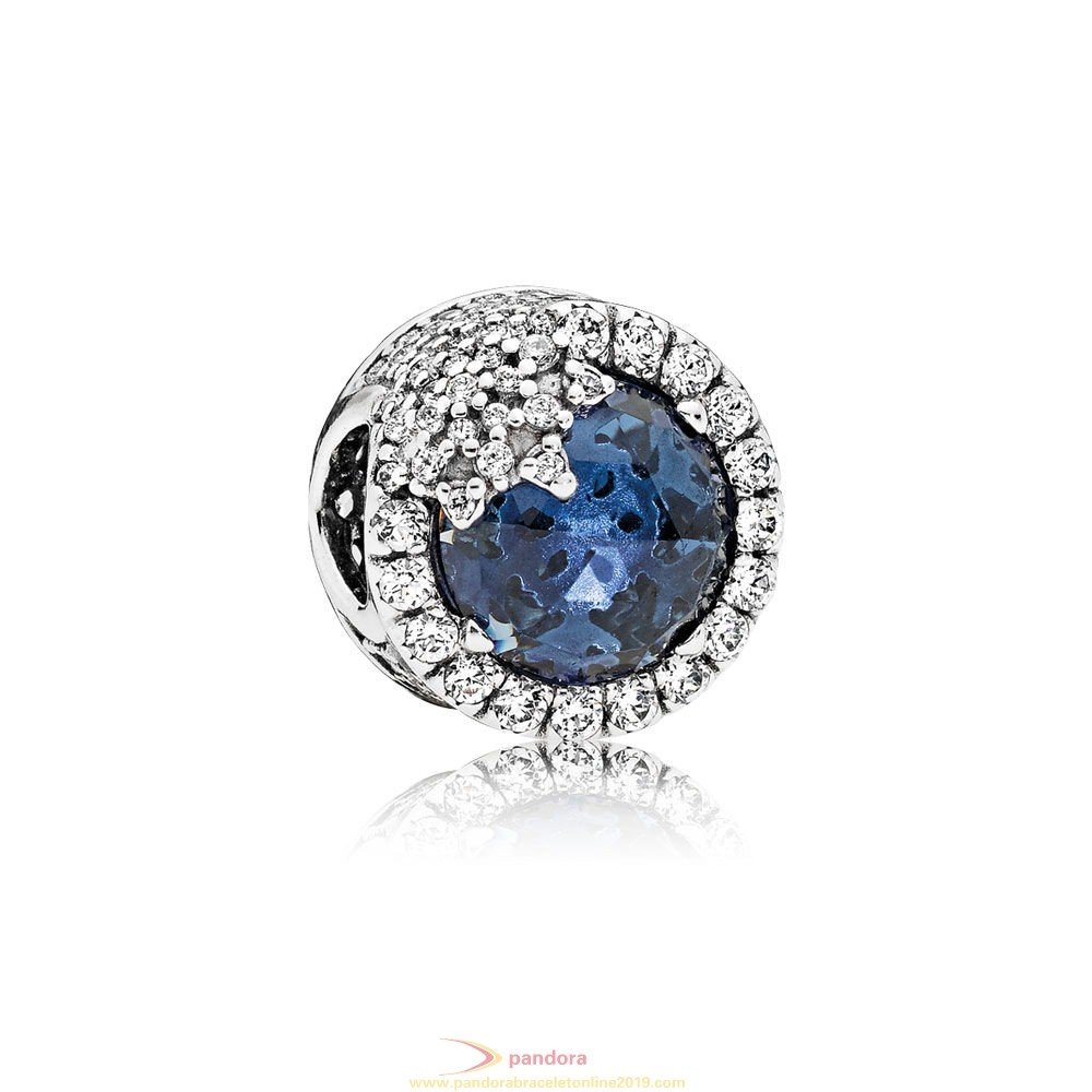 Find Pandora Jewelry Pandora Touch Of Color Charms Dazzling Snowflake Charm Twilight Blue Crystals Clear Cz