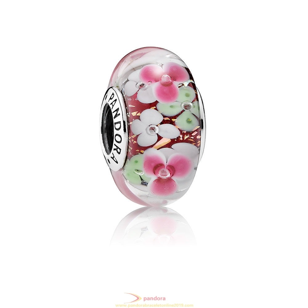 Find Pandora Jewelry Pandora Touch Of Color Charms Flower Garden Charm Murano Glass