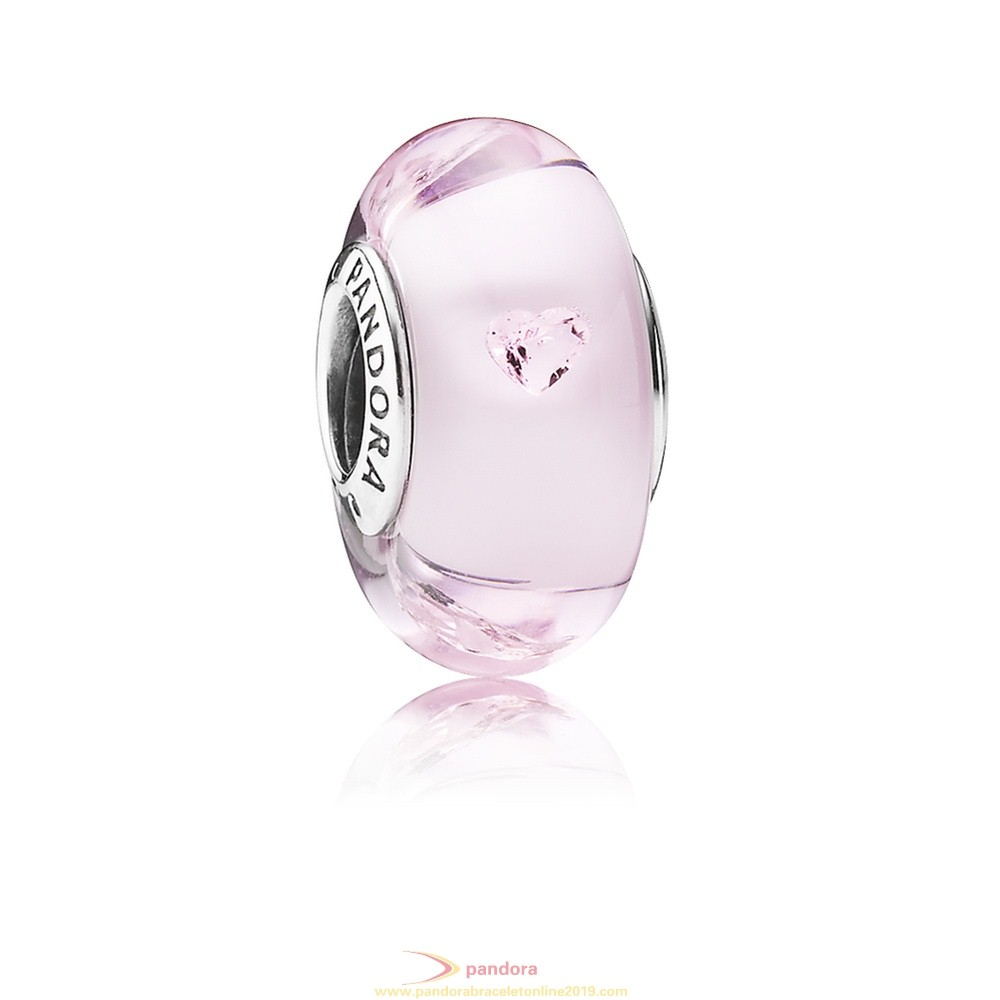 Find Pandora Jewelry Pandora Touch Of Color Charms Pink Hearts Charm Murano Glass Pink Cz