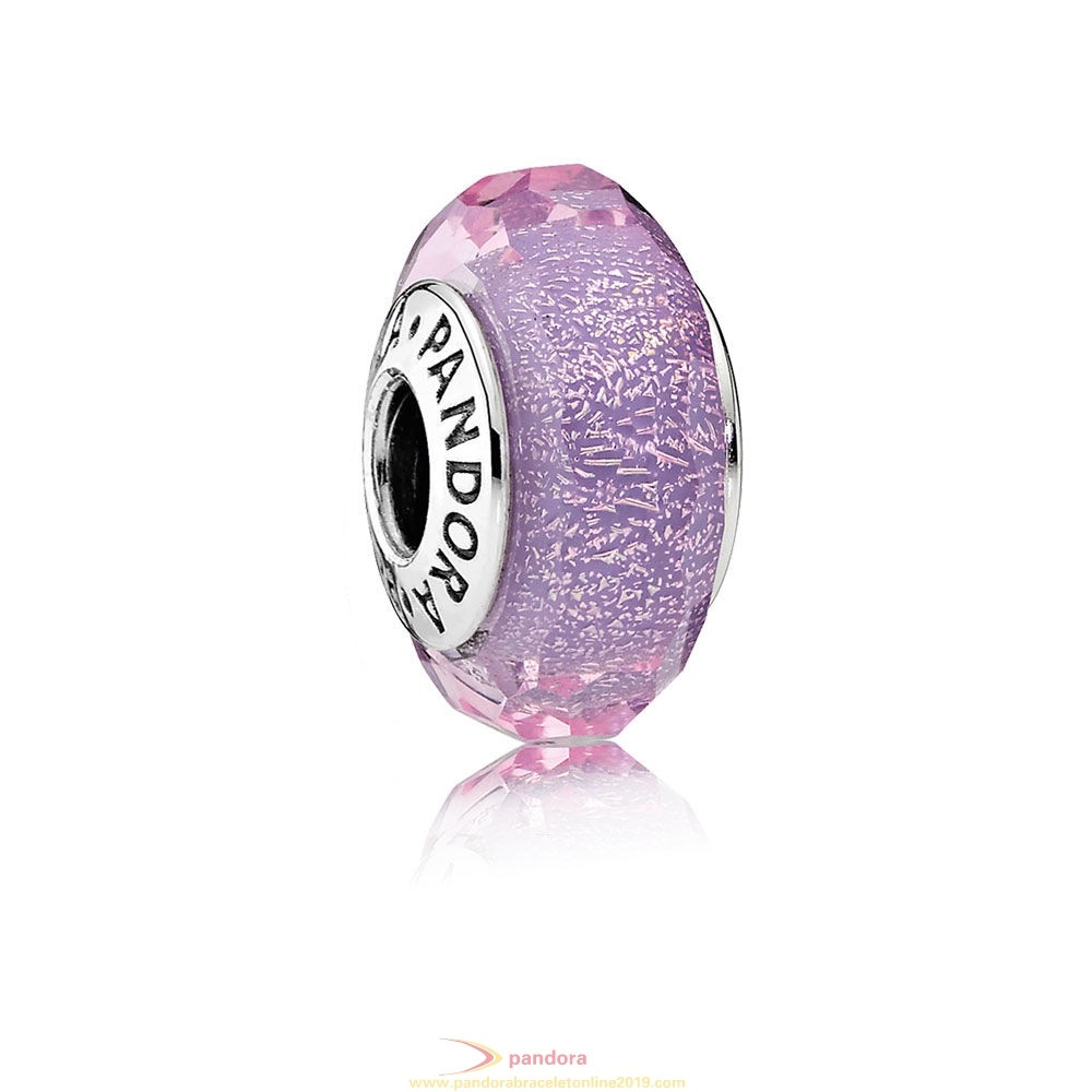 Find Pandora Jewelry Pandora Touch Of Color Charms Purple Shimmer Charm Murano Glass