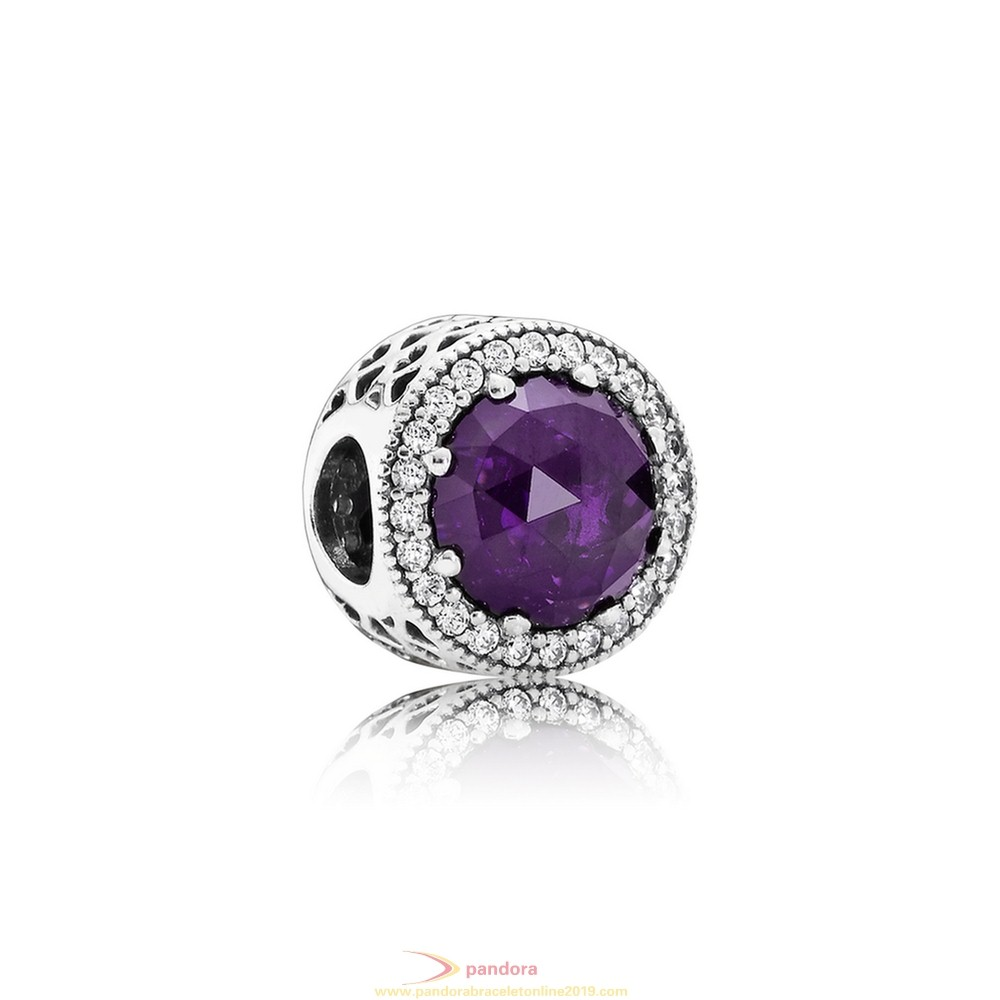 Find Pandora Jewelry Pandora Touch Of Color Charms Radiant Hearts Charm Royal Purple Crystal Clear Cz
