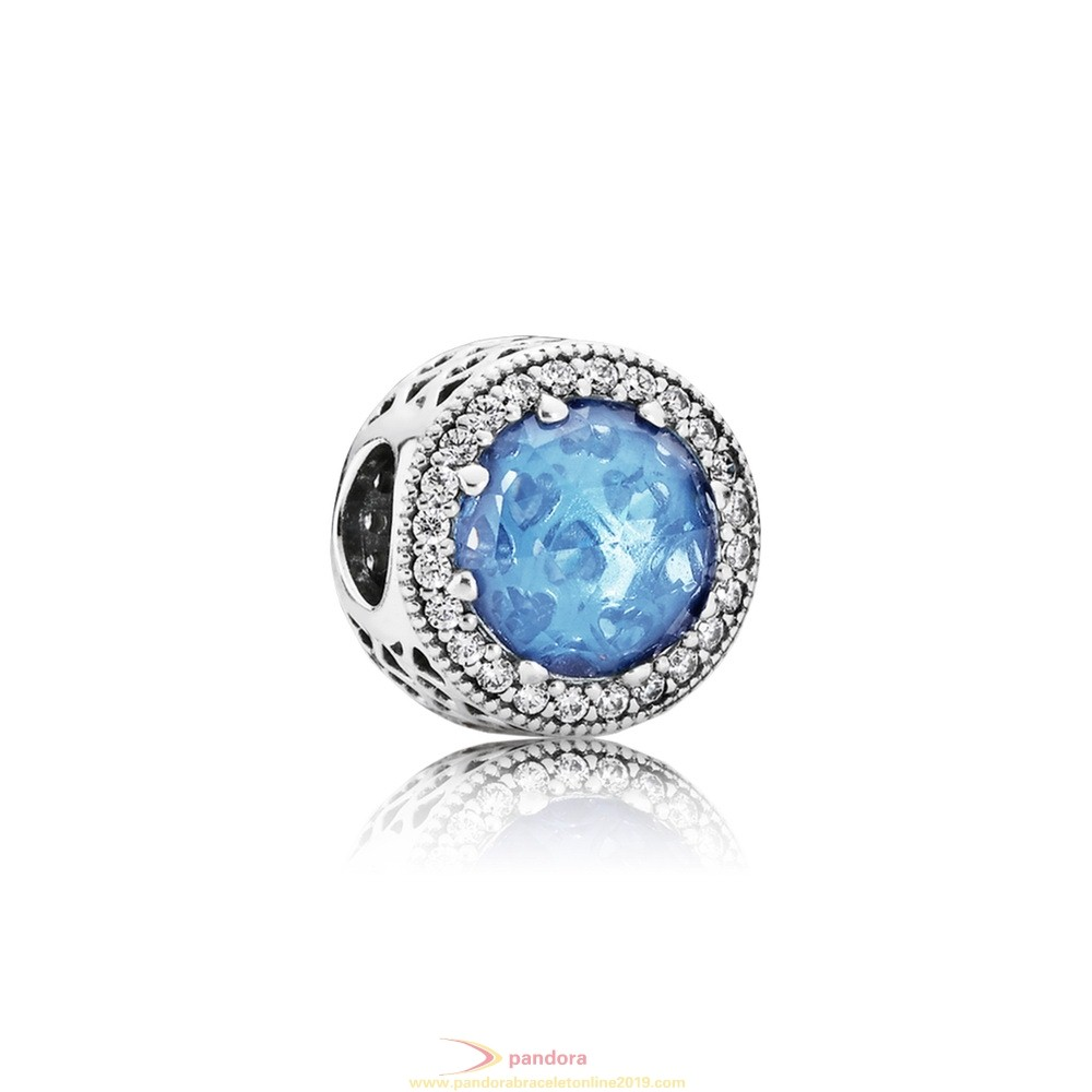 Find Pandora Jewelry Pandora Touch Of Color Charms Radiant Hearts Charm Sky Blue Crystal Clear Cz