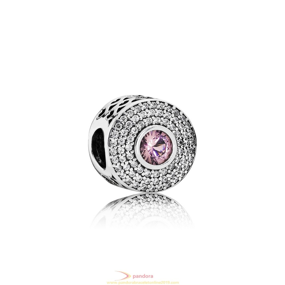 Find Pandora Jewelry Pandora Touch Of Color Charms Radiant Splendor Charm Blush Pink Crystal Clear Cz