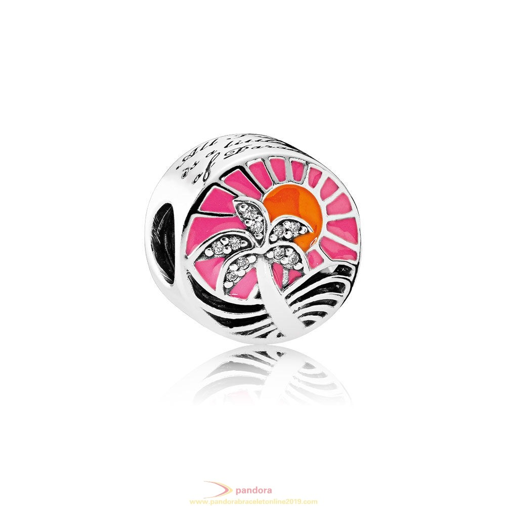 Find Pandora Jewelry Pandora Vacation Travel Charms Tropical Sunset Charm Mixed Enamel Clear Cz