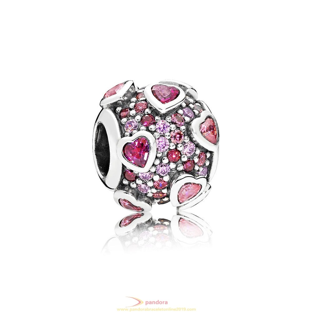 Find Pandora Jewelry Explosion Of Love Charm Multi Colored Cz