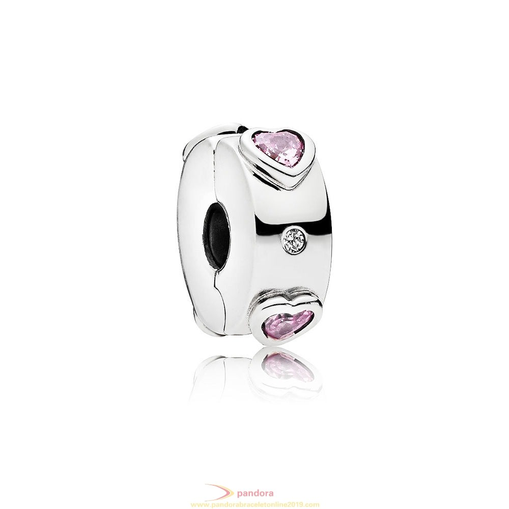 Find Pandora Jewelry Explosion Of Love Clip Fancy Fuchsia Pink Clear Cz