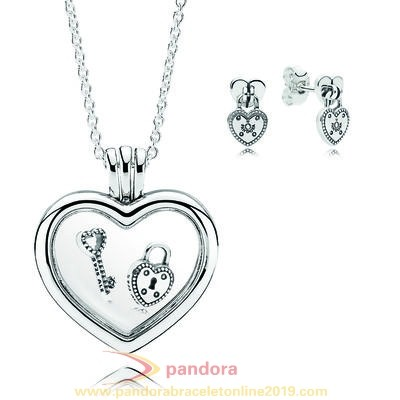Find Pandora Jewelry Lock Your Promise Necklace Gift