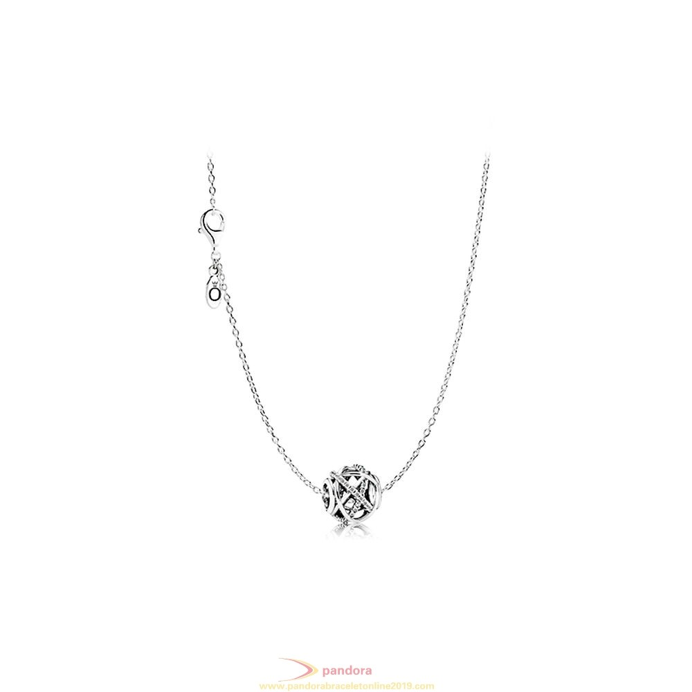 Find Pandora Jewelry Sliver Hollowing Silver River Necklace