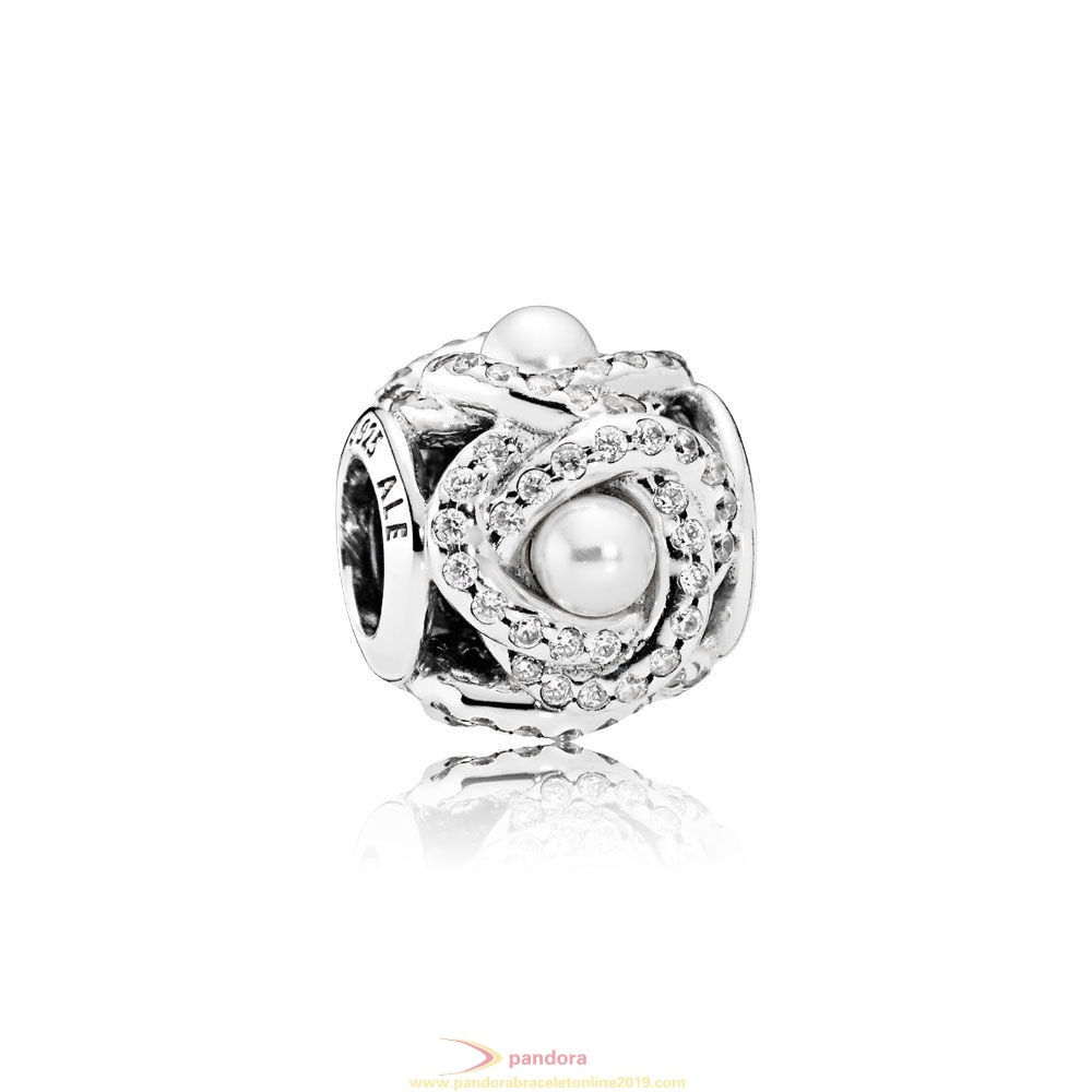 Find Pandora Jewelry Pandora Wedding Anniversary Charms Luminous Love Knot White Crystal Pearl Clear Cz