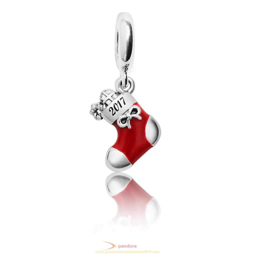 Find Pandora Jewelry Pandora Winter Collection 2017 Engraved Christmas Stocking Limited Edition Charm