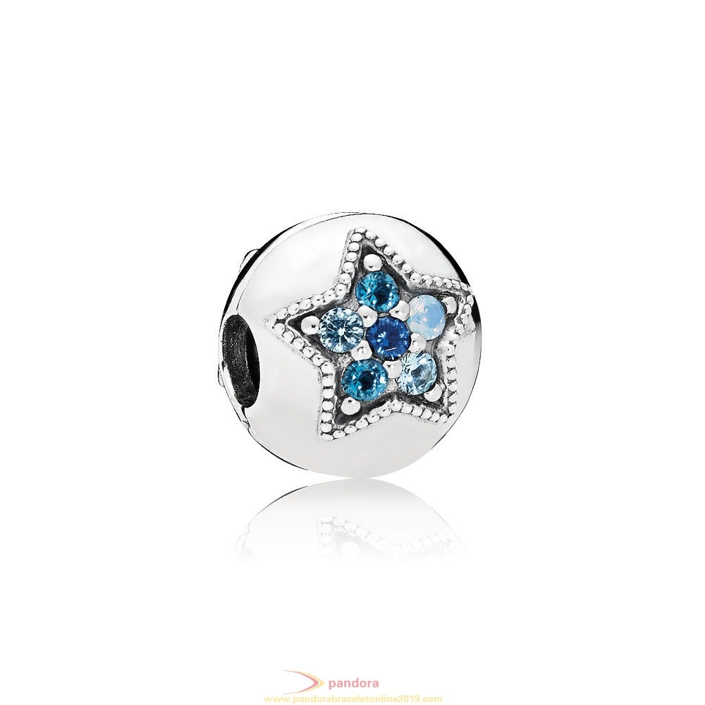 Find Pandora Jewelry Pandora Winter Collection Bright Star Clip Multi Colored Crystals