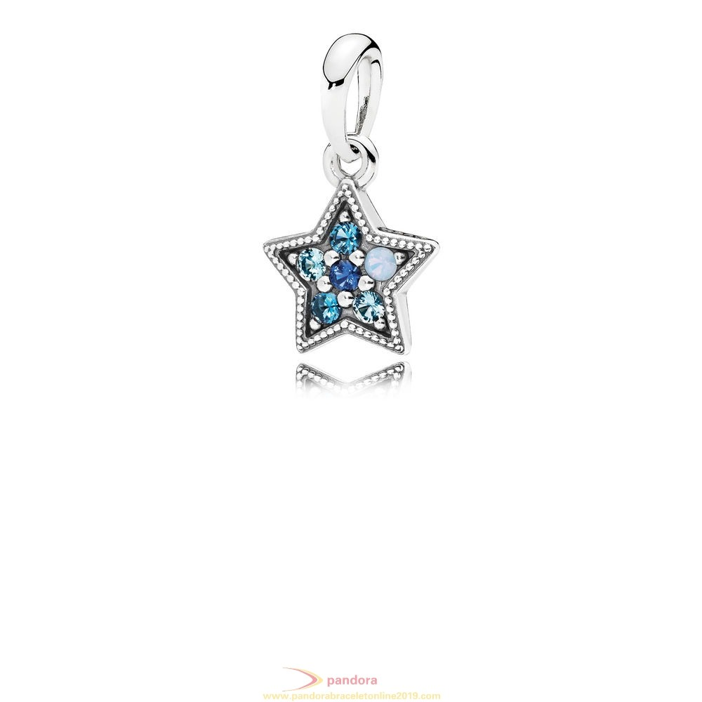 Find Pandora Jewelry Pandora Winter Collection Bright Star Necklace Pendant Multi Colored Crystals