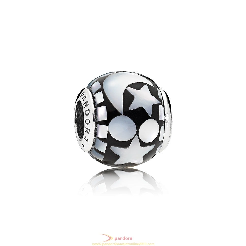 Find Pandora Jewelry Pandora Winter Collection Celestial Mosaic Charm Black Acrylic Mother Of Pearl