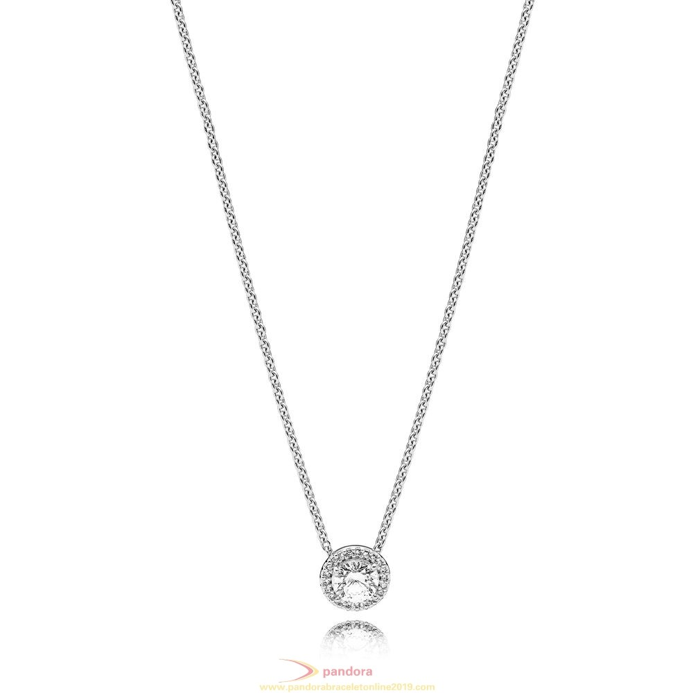 Find Pandora Jewelry Pandora Winter Collection Classic Elegance Necklace Clear Cz