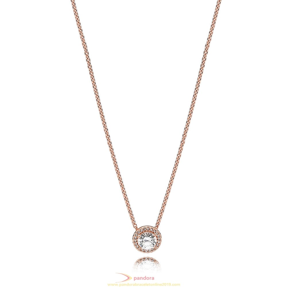 Find Pandora Jewelry Pandora Winter Collection Classic Elegance Necklace Pandora Rose Clear Cz