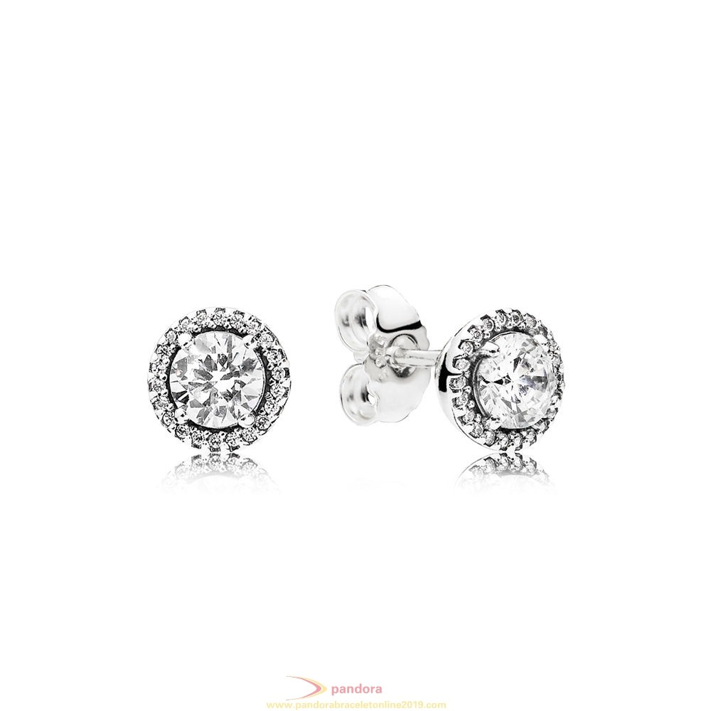 Find Pandora Jewelry Pandora Winter Collection Classic Elegance Stud Earrings Clear Cz
