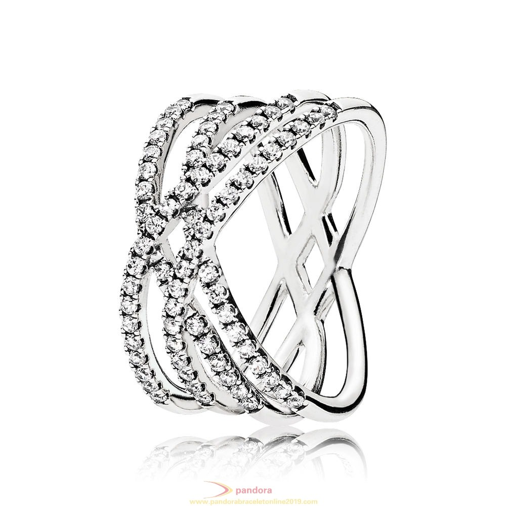 Find Pandora Jewelry Pandora Winter Collection Cosmic Lines Ring Clear Cz