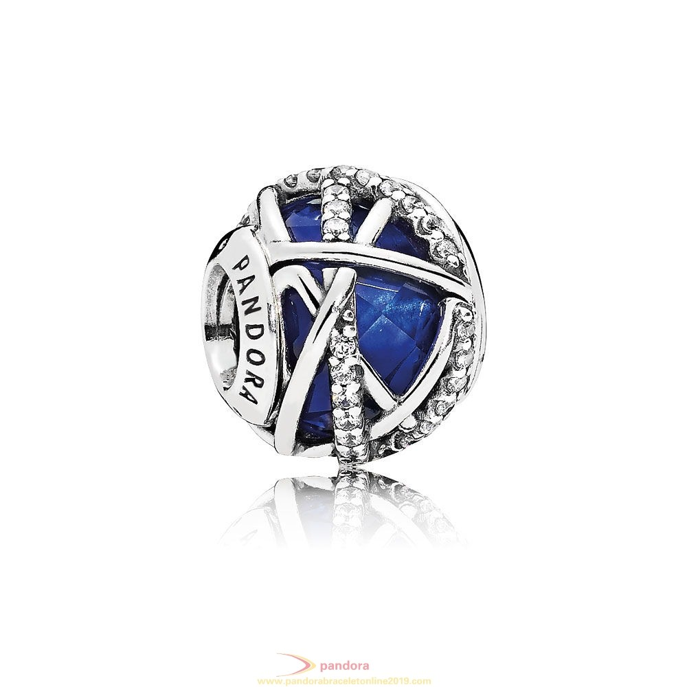 Find Pandora Jewelry Pandora Winter Collection Galaxy Charm Royal Blue Crystal Clear Cz