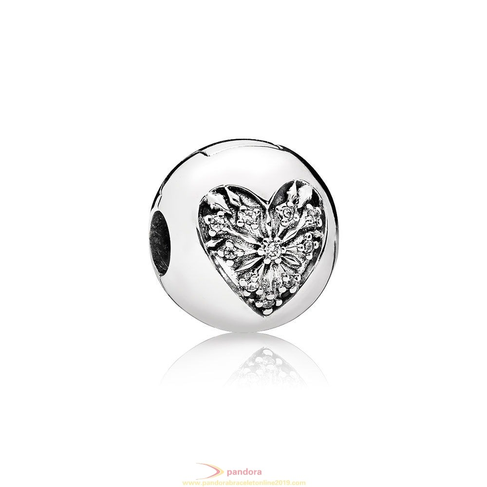 Find Pandora Jewelry Pandora Winter Collection Heart Of Winter Clip Clear Cz