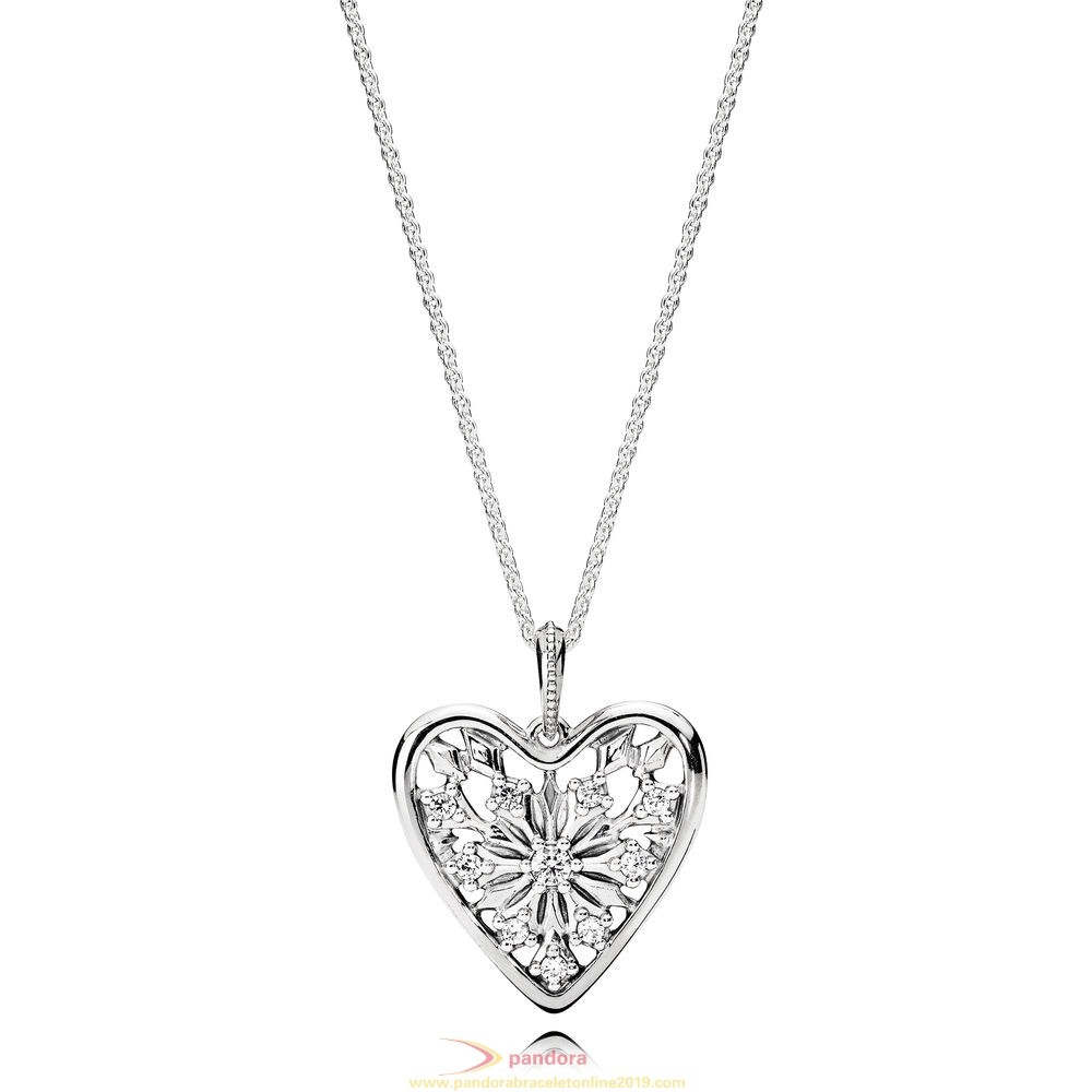 Find Pandora Jewelry Pandora Winter Collection Heart Of Winter Necklace