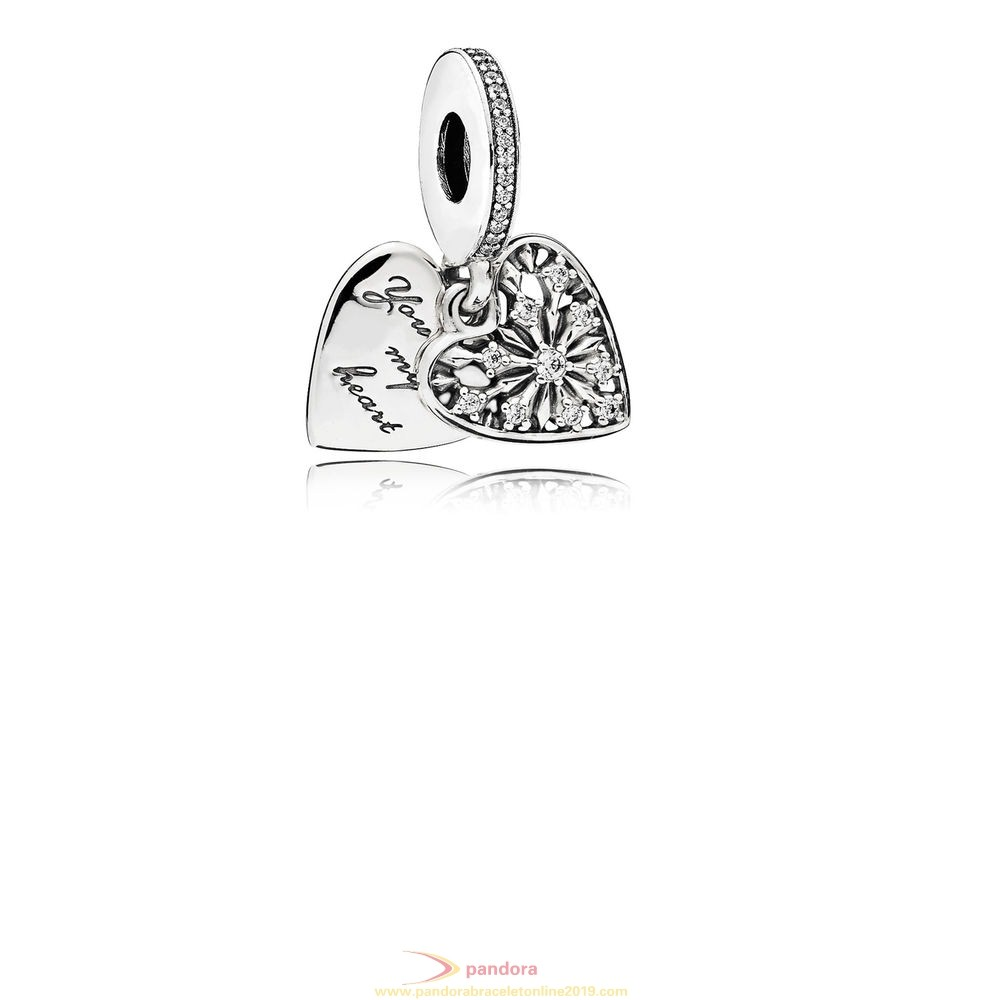 Find Pandora Jewelry Pandora Winter Collection Heart Of Winter Pendant Charm Clear Cz