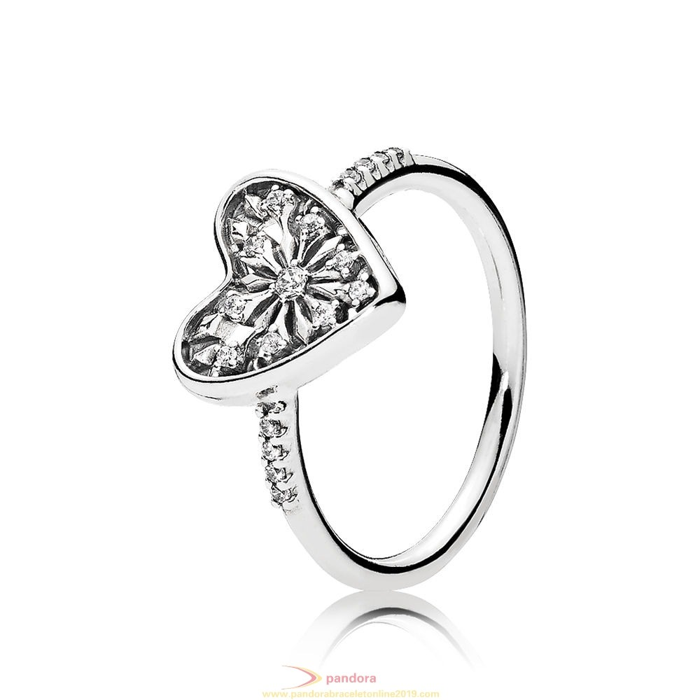Find Pandora Jewelry Pandora Winter Collection Heart Of Winter Ring Clear Cz