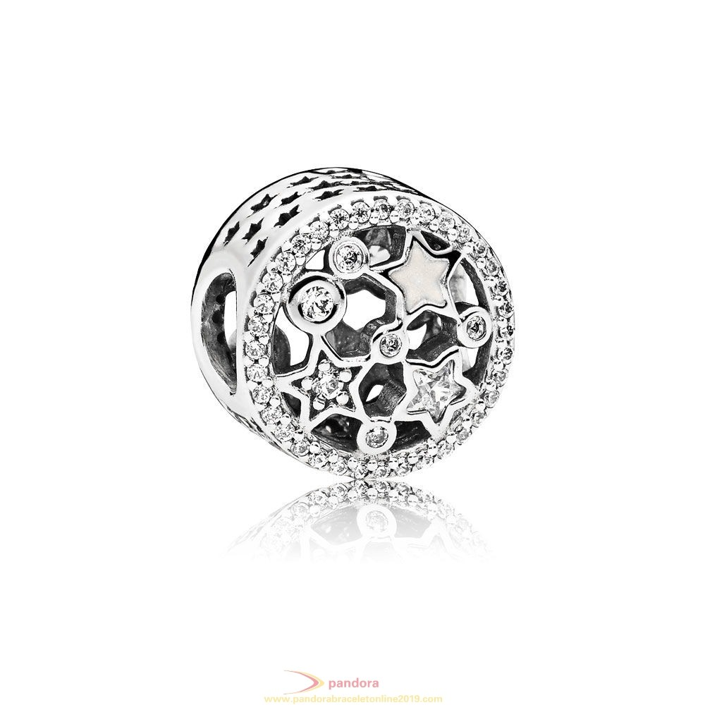 Find Pandora Jewelry Pandora Winter Collection Illuminating Stars Charm Silver Enamel Clear Cz