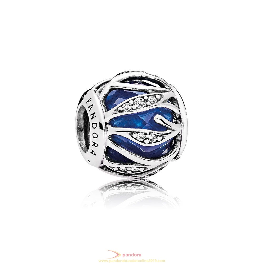 Find Pandora Jewelry Pandora Winter Collection Nature'S Radiance Charm Royal Blue Crystal Clear Cz