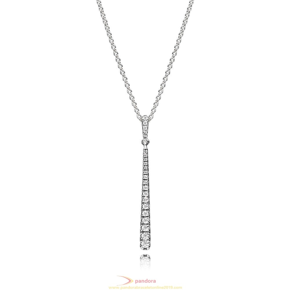 Find Pandora Jewelry Pandora Winter Collection Shooting Star Necklace Clear Cz