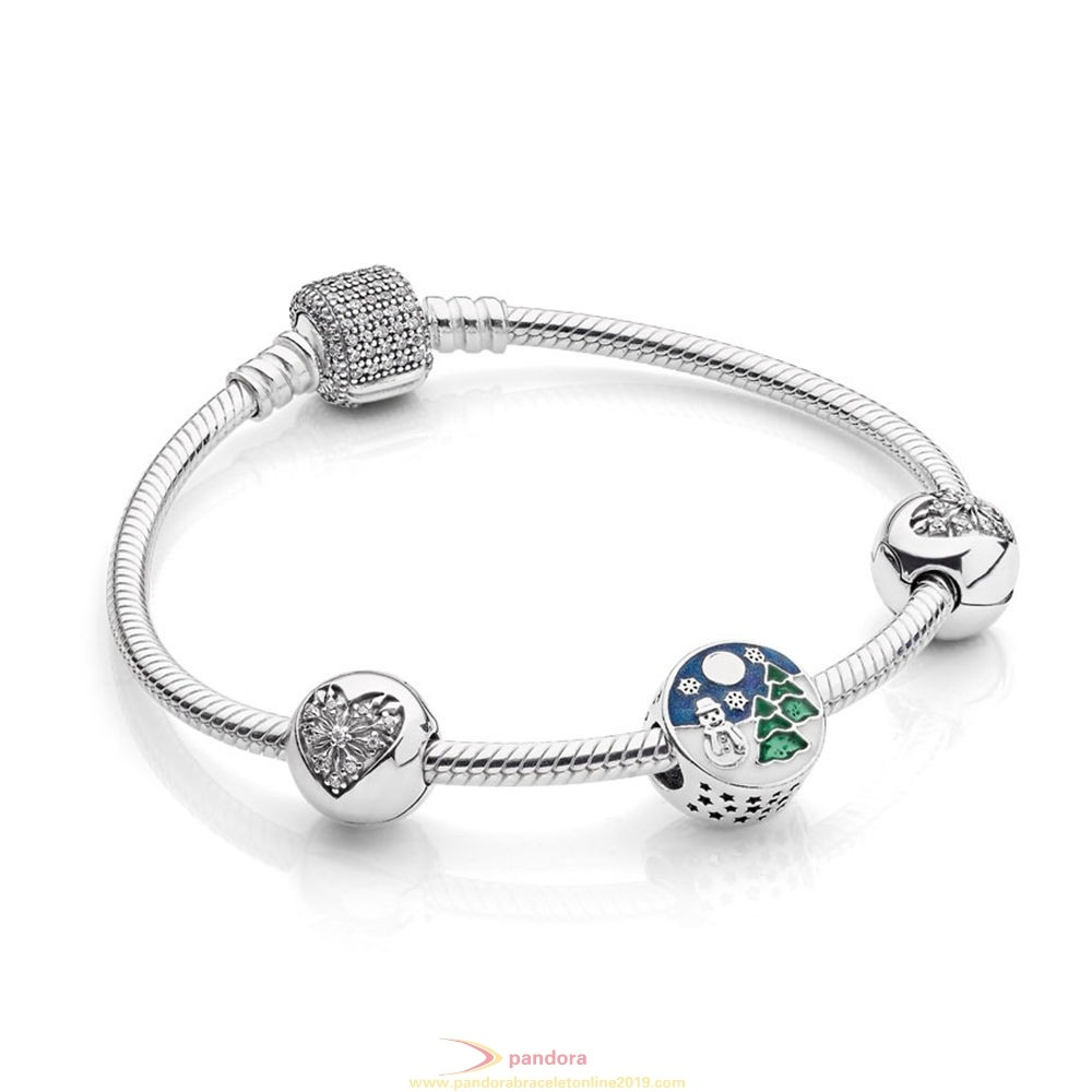 Find Pandora Jewelry Pandora Winter Collection Snowy Wonderland Bracelet Gift Set