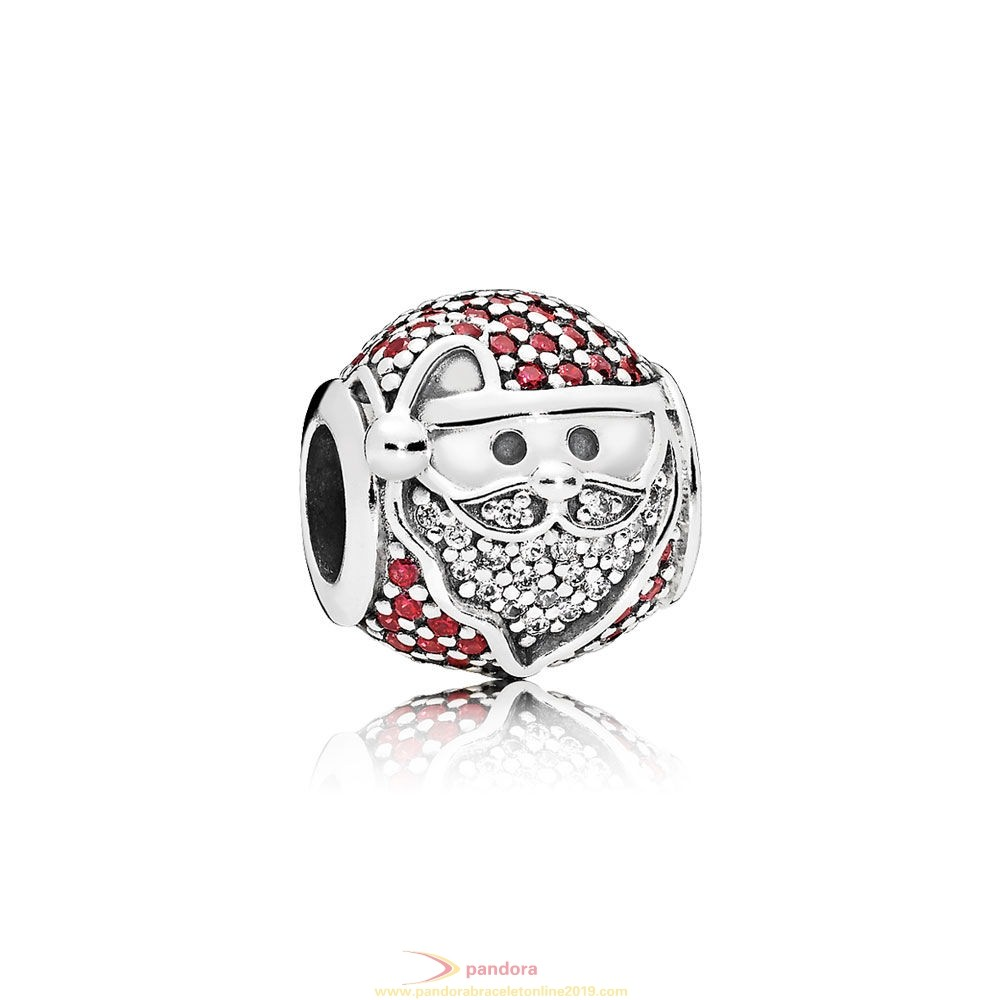 Find Pandora Jewelry Pandora Winter Collection Sparkling Jolly Santa Charm Red Clear Cz