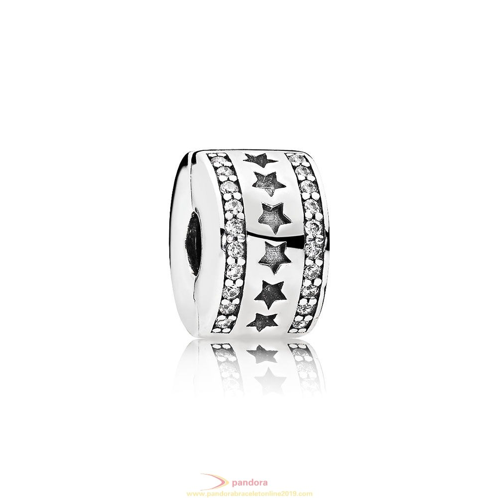 Find Pandora Jewelry Pandora Winter Collection Starry Formation Clip Clear Cz