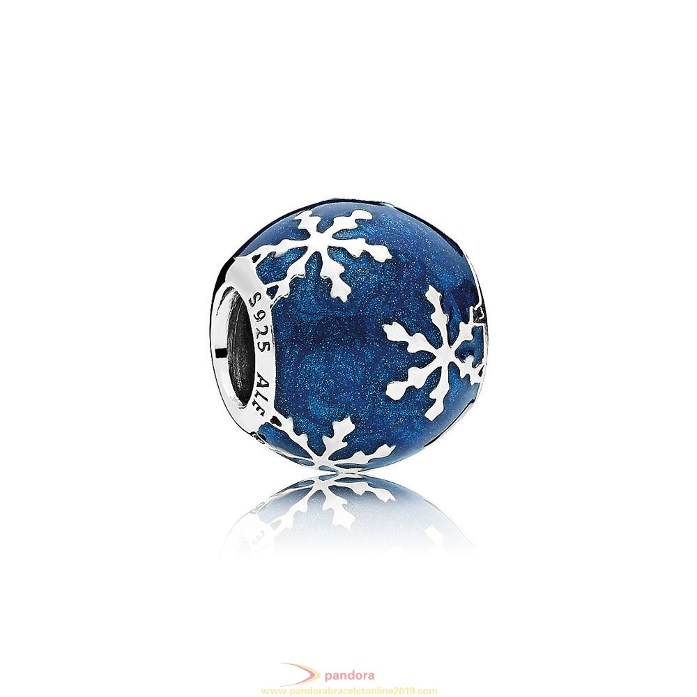 Find Pandora Jewelry Pandora Winter Collection Wintry Delight Charm Midnight Blue Enamel