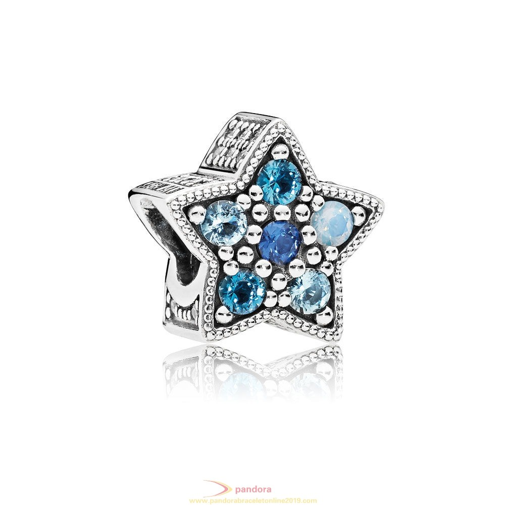 Find Pandora Jewelry Pandora Zodiac Celestial Charms Bright Star Charm Multi Colored Crystals
